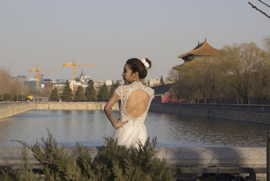 This was outside of the Forbidden City. We were talking about weddings with Jane and she mentioned people still use traditional elements, but most women prefer Western gowns.